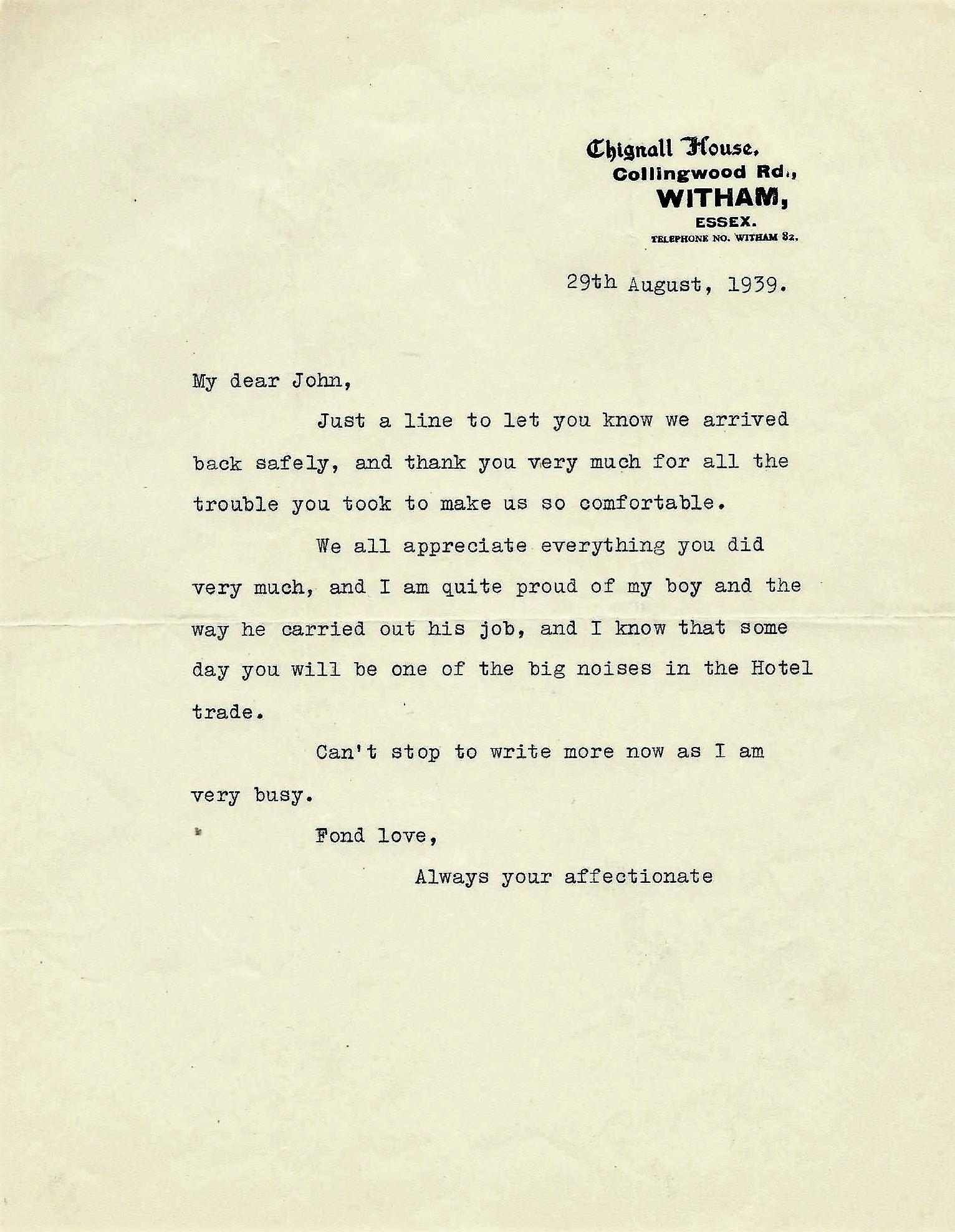 Grandpa letter 081939