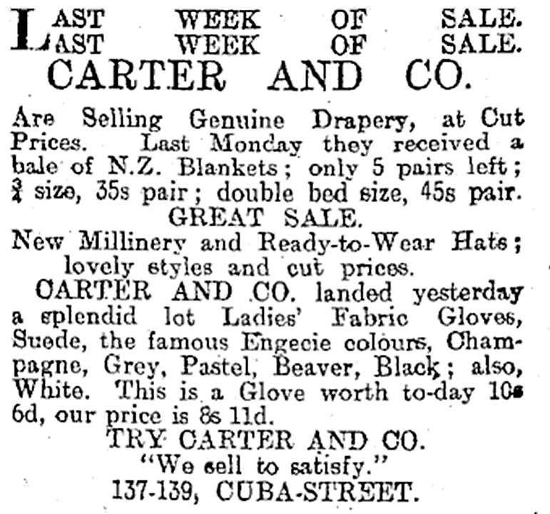 NZ paper ad c1925