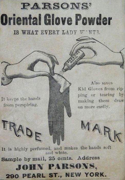 Glove poowder advert