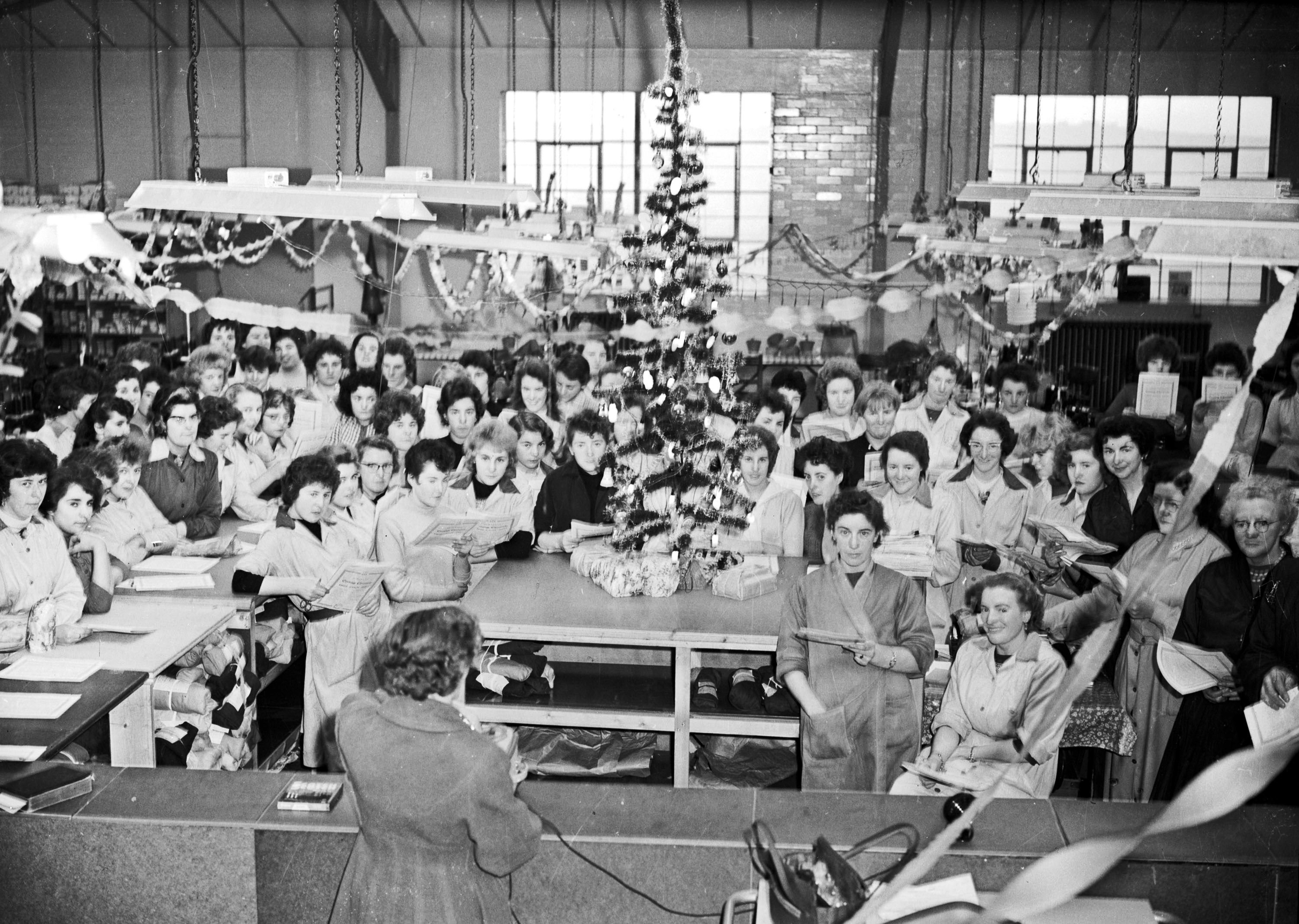 19. 1960 Jan 1st Pinkhams Factory carol singing.
