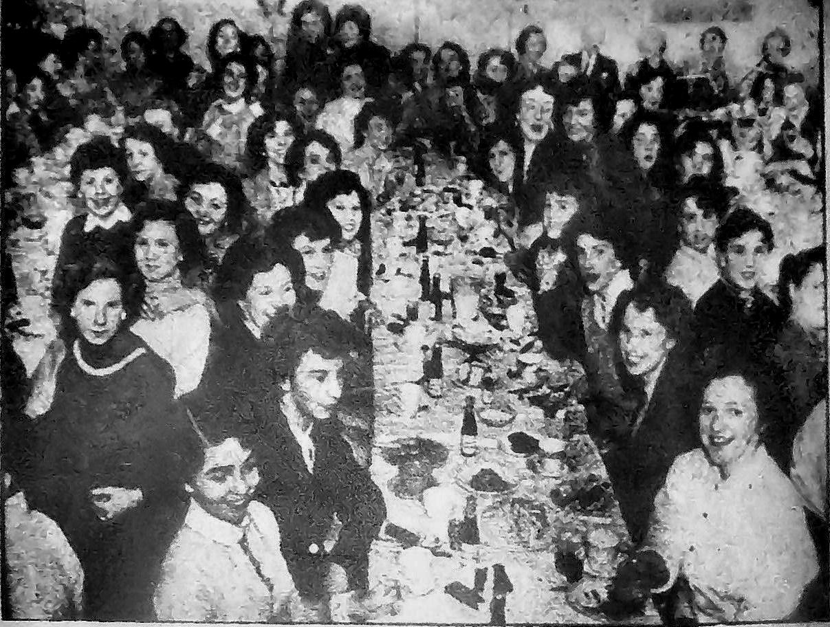 Christmas party 1956