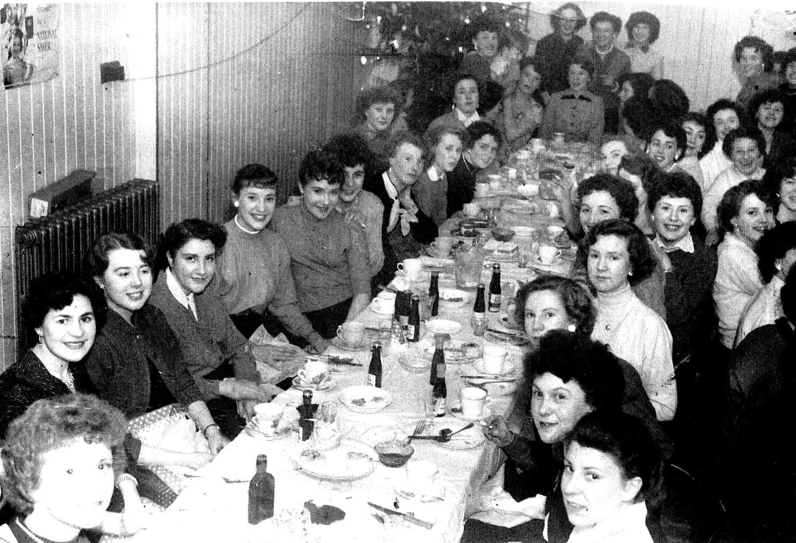 . Pinkhams xmas party 1955.at South Moor.