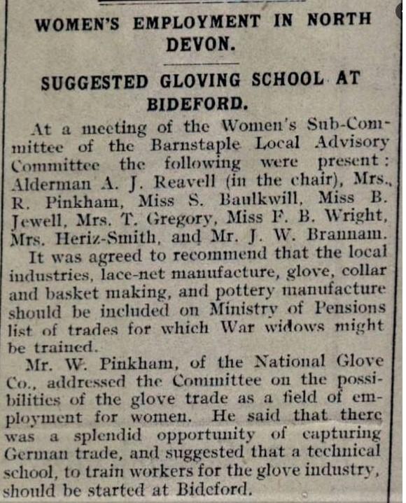 Bideford Gazette 21 Dec 1918