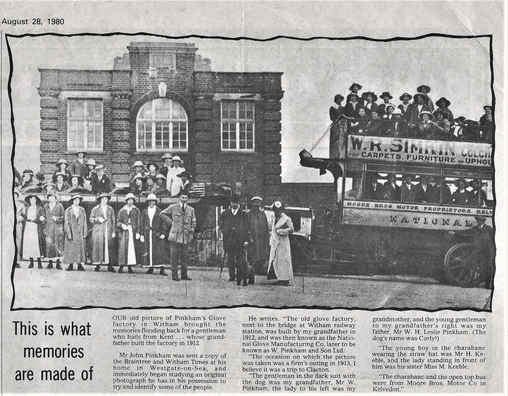 B & W Times article 1980