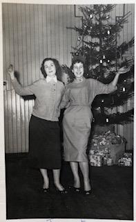 Joan Greener left & Marjorie Ainsworth South Moor 1958