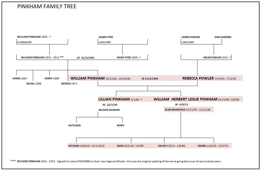 Family tree colour