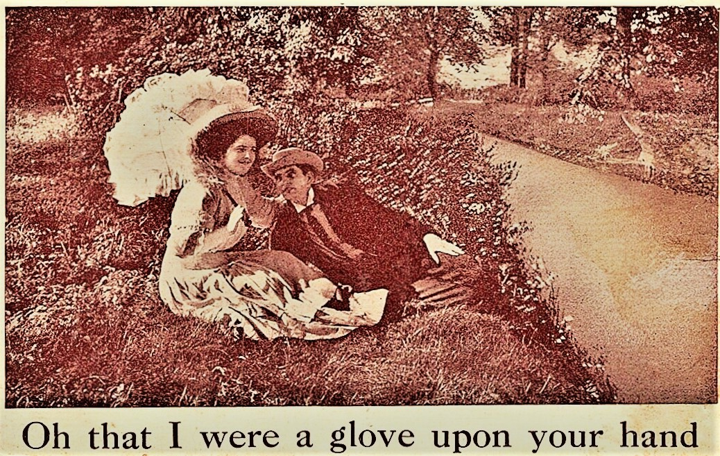 a glove upon your hand